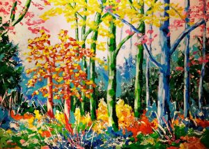 """Schilderij """"Zoekt en gij zult vinden"""", gemaakt door Dieuwke van Vulpen"""